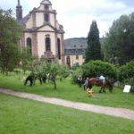 Pferdesegnung im Kloster Himmerod