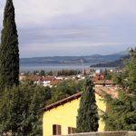 Der Blick von unserem Hotel zum Gardasee