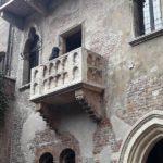 """Der Steinbalkon von Shakespeares """"Julia"""" aus Romeo und Julia"""